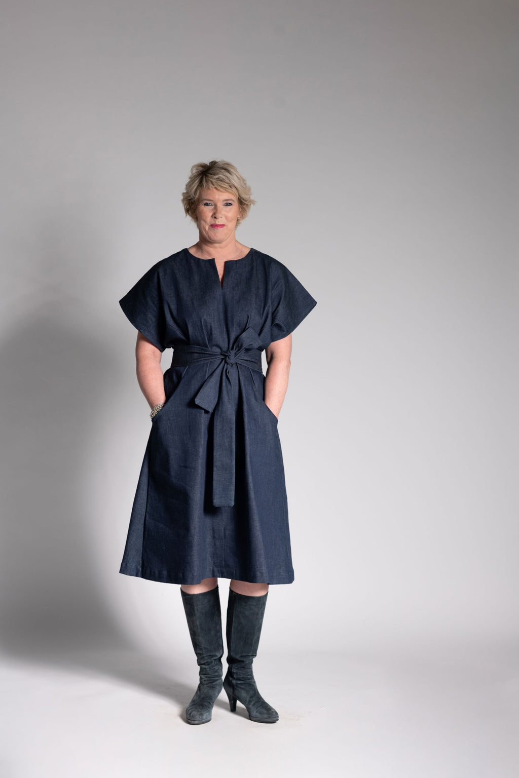 The Obi Dress - Organic Denim
