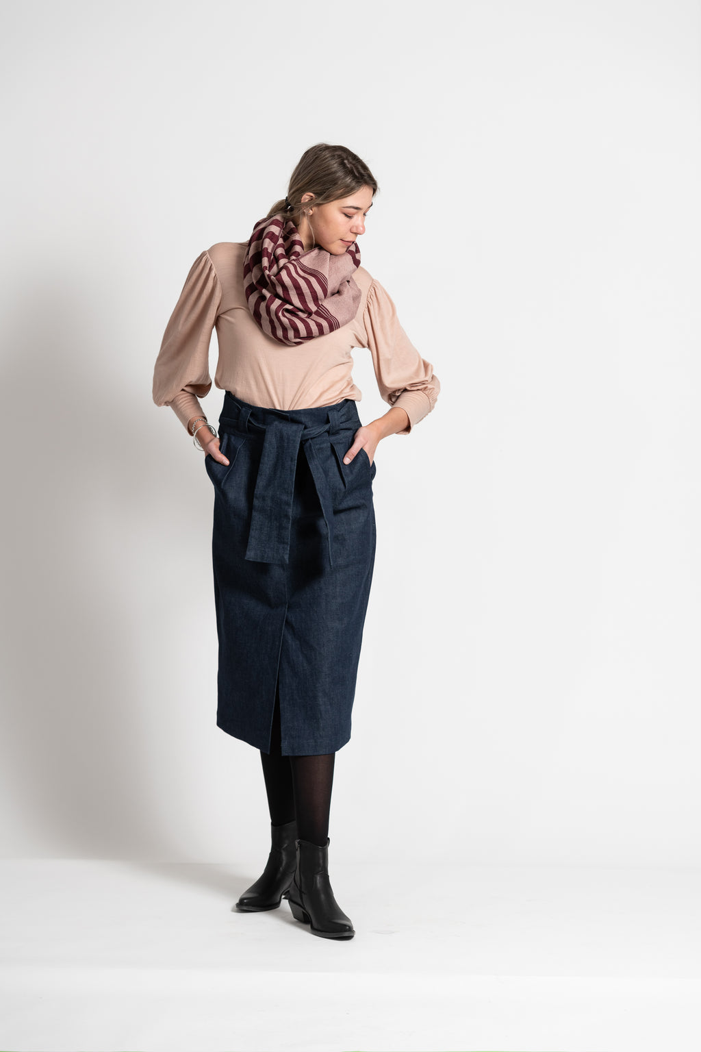 "The ""All Wrapped Up"" Organic Denim Skirt"