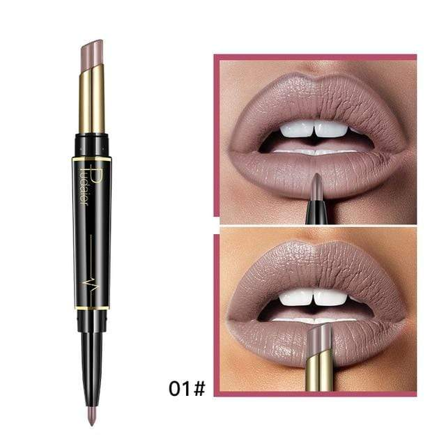 Glad Genie 01 Waterproof Double Ended Long Lasting Lipstick