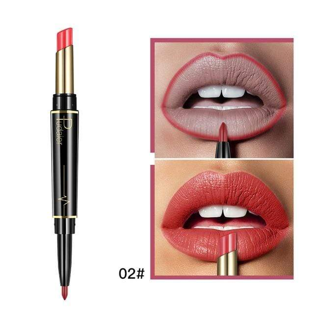 Glad Genie 02 Waterproof Double Ended Long Lasting Lipstick