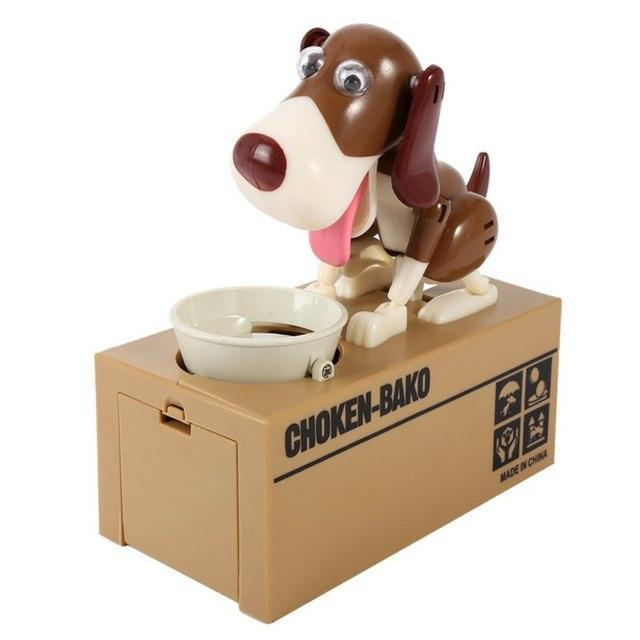 Glad Genie Black and brown Dog Money Bank
