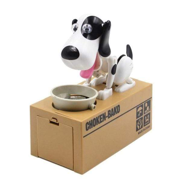 Glad Genie Black and white Dog Money Bank