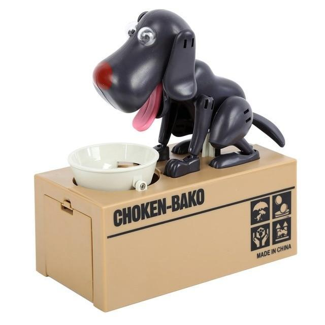 Glad Genie black Dog Money Bank