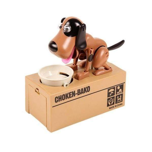 Glad Genie Brown and White Dog Money Bank