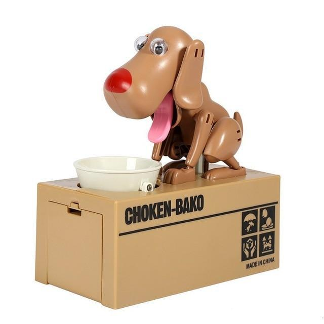Glad Genie Brown Dog Money Bank