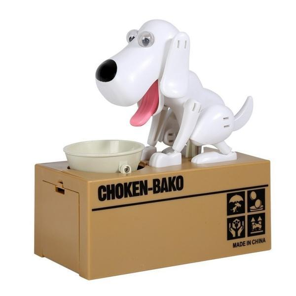 Glad Genie white Dog Money Bank