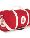 Red & Cream Holdall Bag