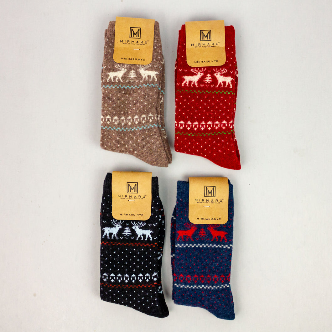 + Reindeer Polka Dot Sock, single pair