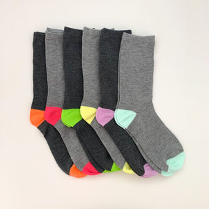+ Colorful Toe Socks, 1 Pair