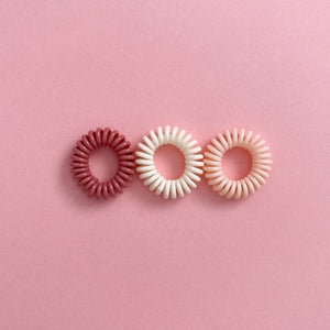 + Mini 3-pack Chord Hair Ties