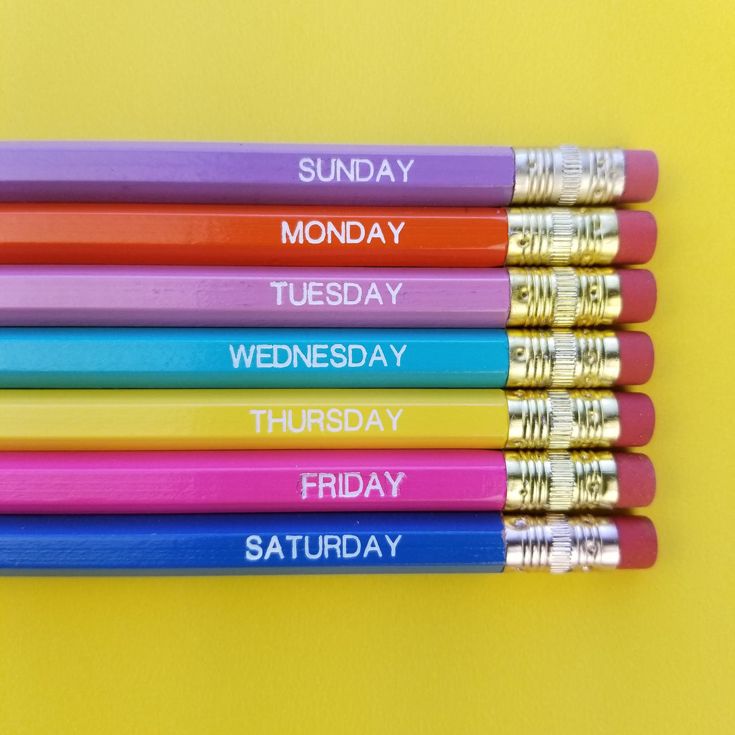 + Days Of The Week Pencil Set