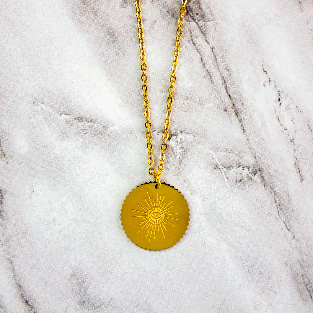 Gold Sunshine Necklace