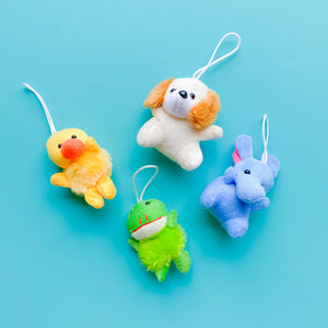 + Mini Plush Stuffed Animal Keychain