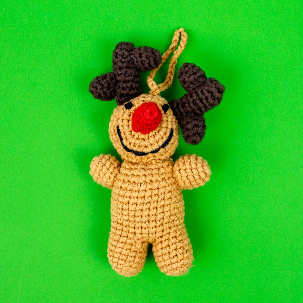 Knit Rudolph Ornament