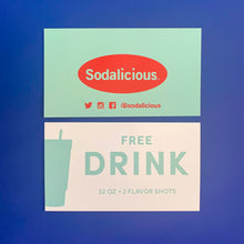 Load image into Gallery viewer, + Sodalicious 32 oz. Drink Card