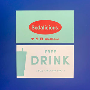 + Sodalicious 32 oz. Drink Card