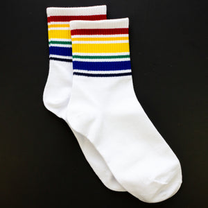 + 1 Pair Assorted Rainbow Tube Socks