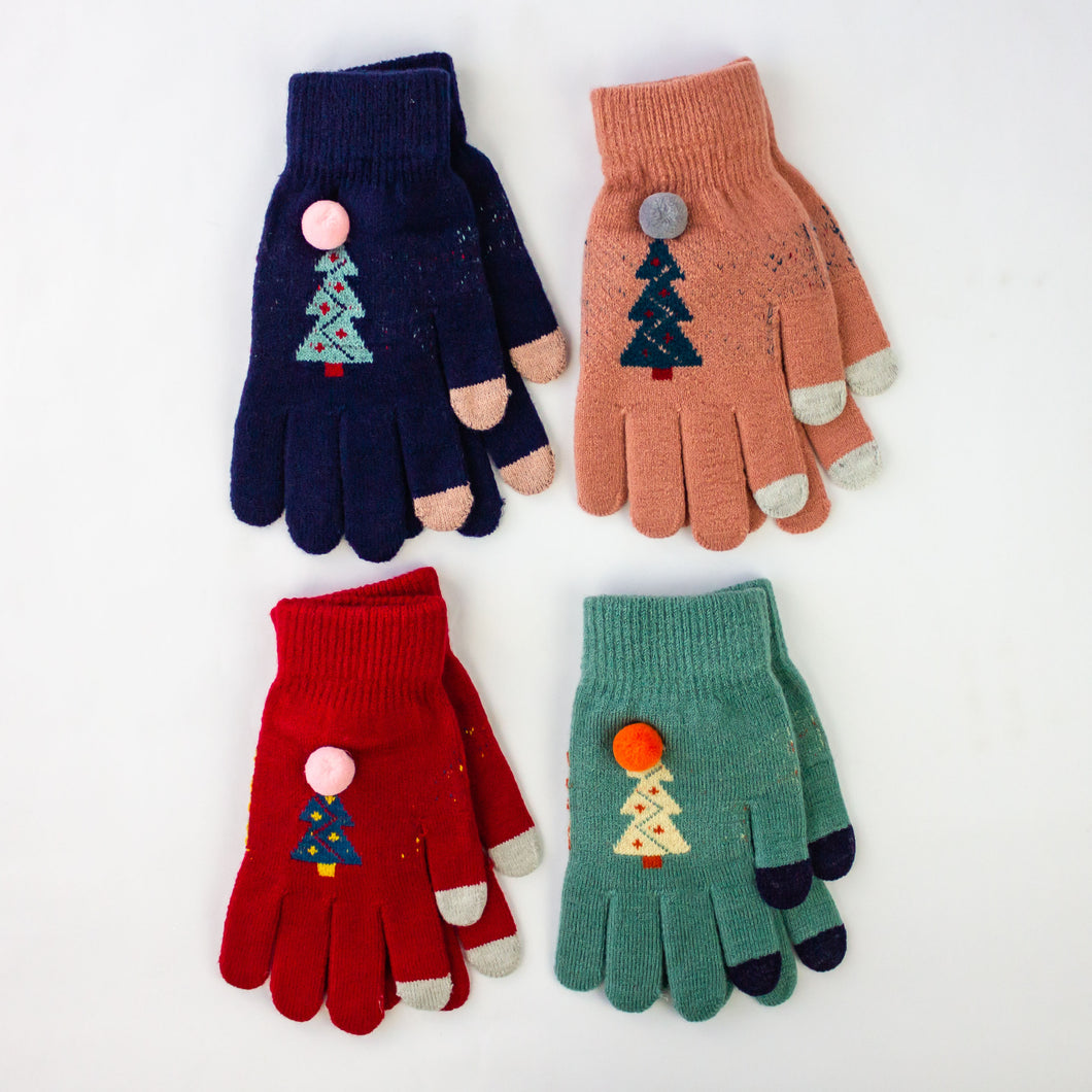 + Single Pair Christmas Mittens, assorted color