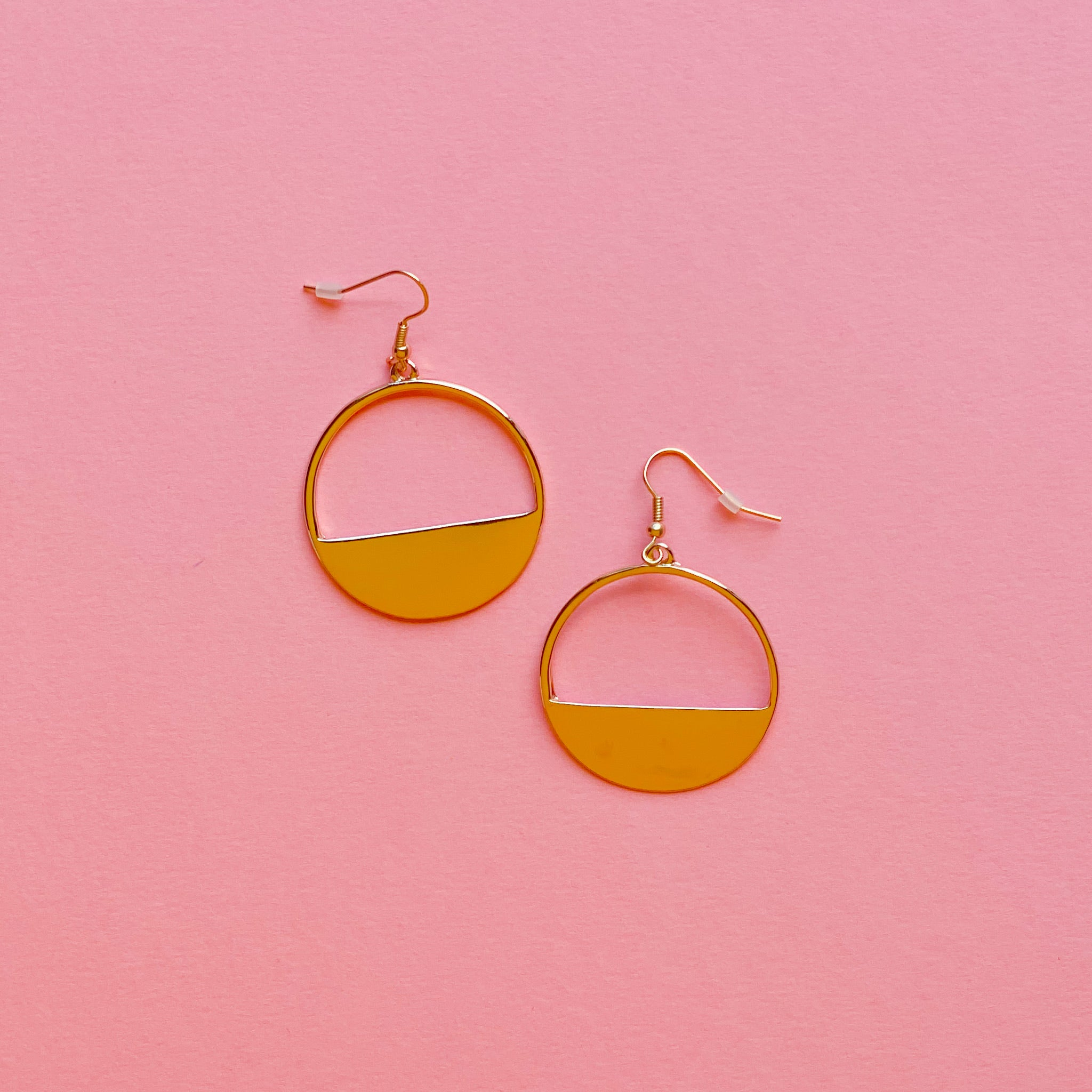Gold Hoop Drop Earrings