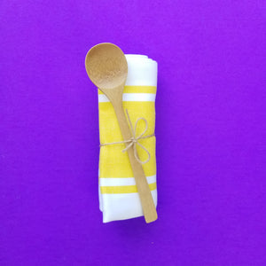 + Yellow Tea Towel and Spoon