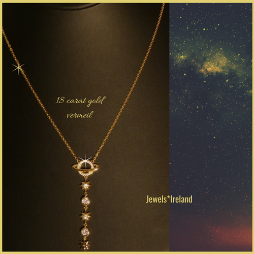 New classic stellar necklace in gold vermeil