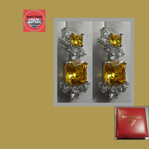 Citrine artistic earrings.