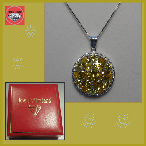 Citrine silver necklace Jewels*Ireland