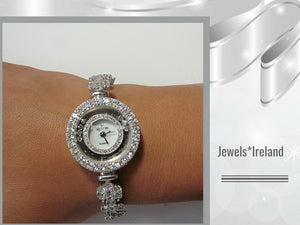 Silver watch + CZ magnificence range