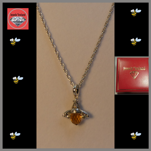 Creative honey bee necklace