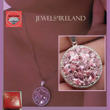 Pink bright sparkling ethical manmade diamond necklace