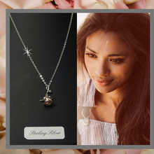Rose necklace symbolic of friendship and joy