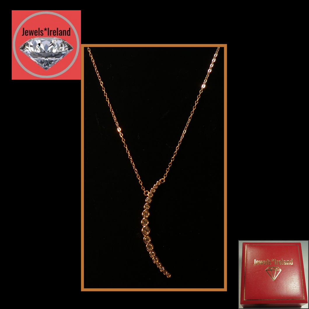 Rosegold vermeil moon crescent necklace