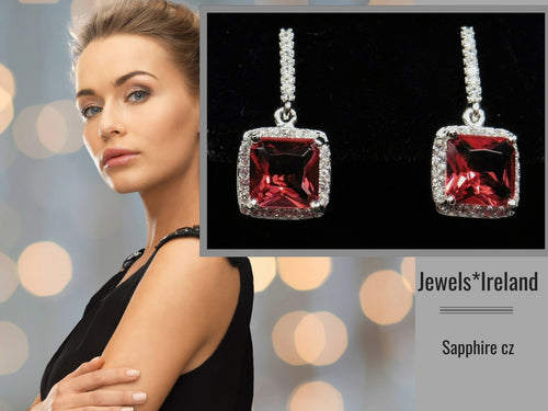 Premium red  stone earrings