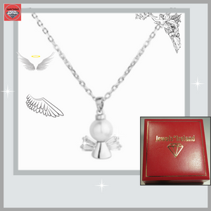 925 Sterling silver angel sparkle of light necklace