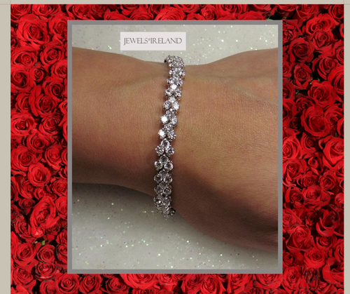 Stunning diamond created non mined bracelet