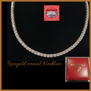 Tennis brilliant necklace rosegold vermeil