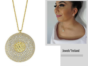 Gold Disc pendant and chain