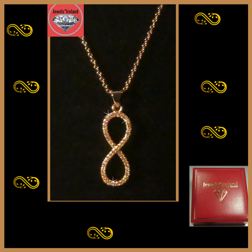 Eternal Infinity rosegold necklace