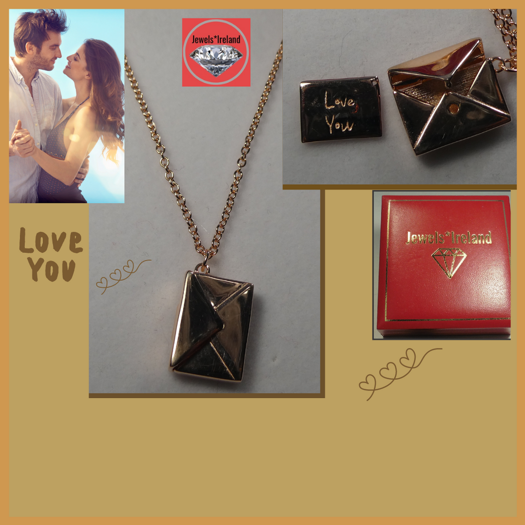 Message love note necklace