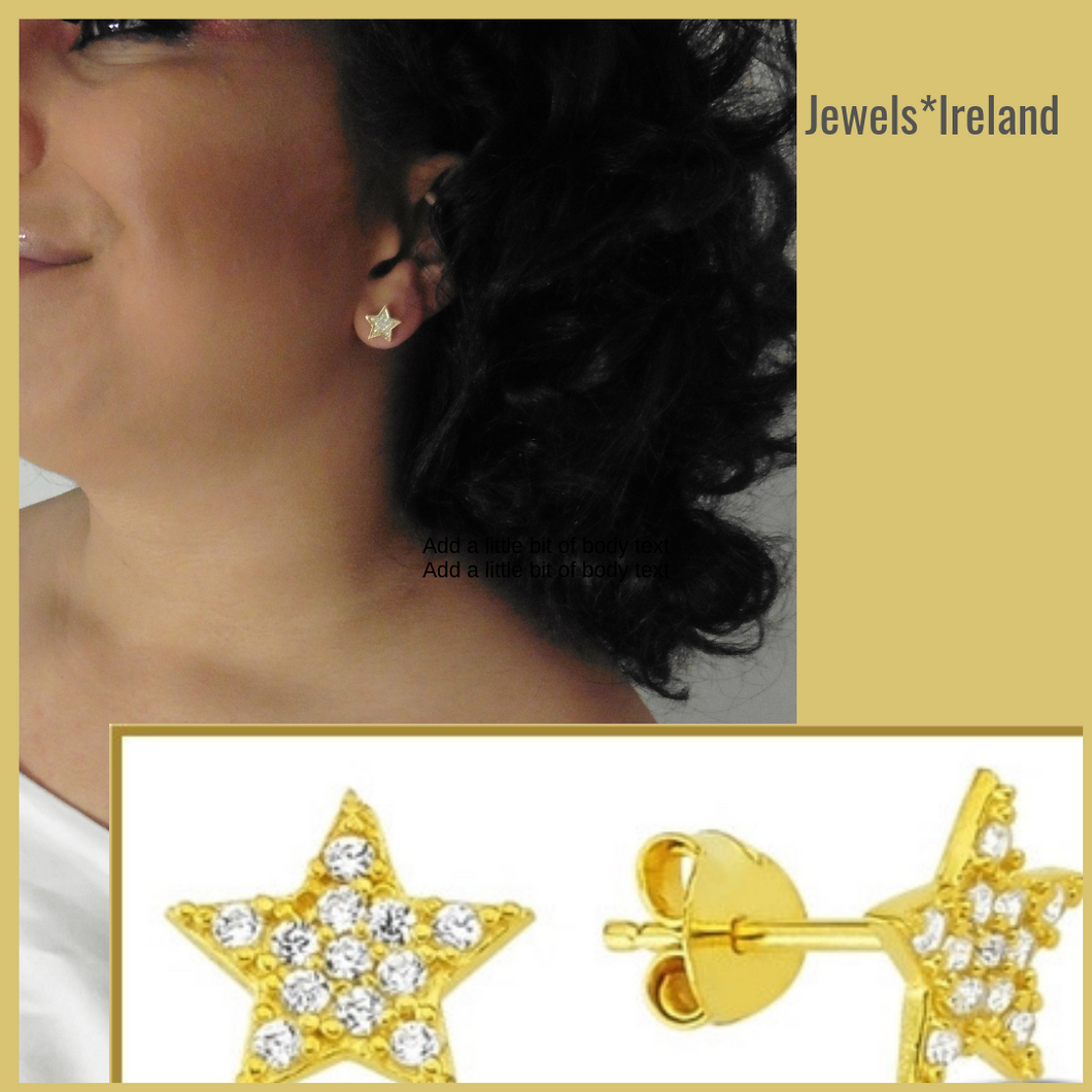 Lucky star gold star earrings