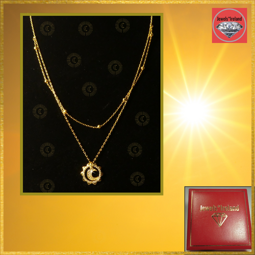 Sunshine double layer gold vermeil necklace