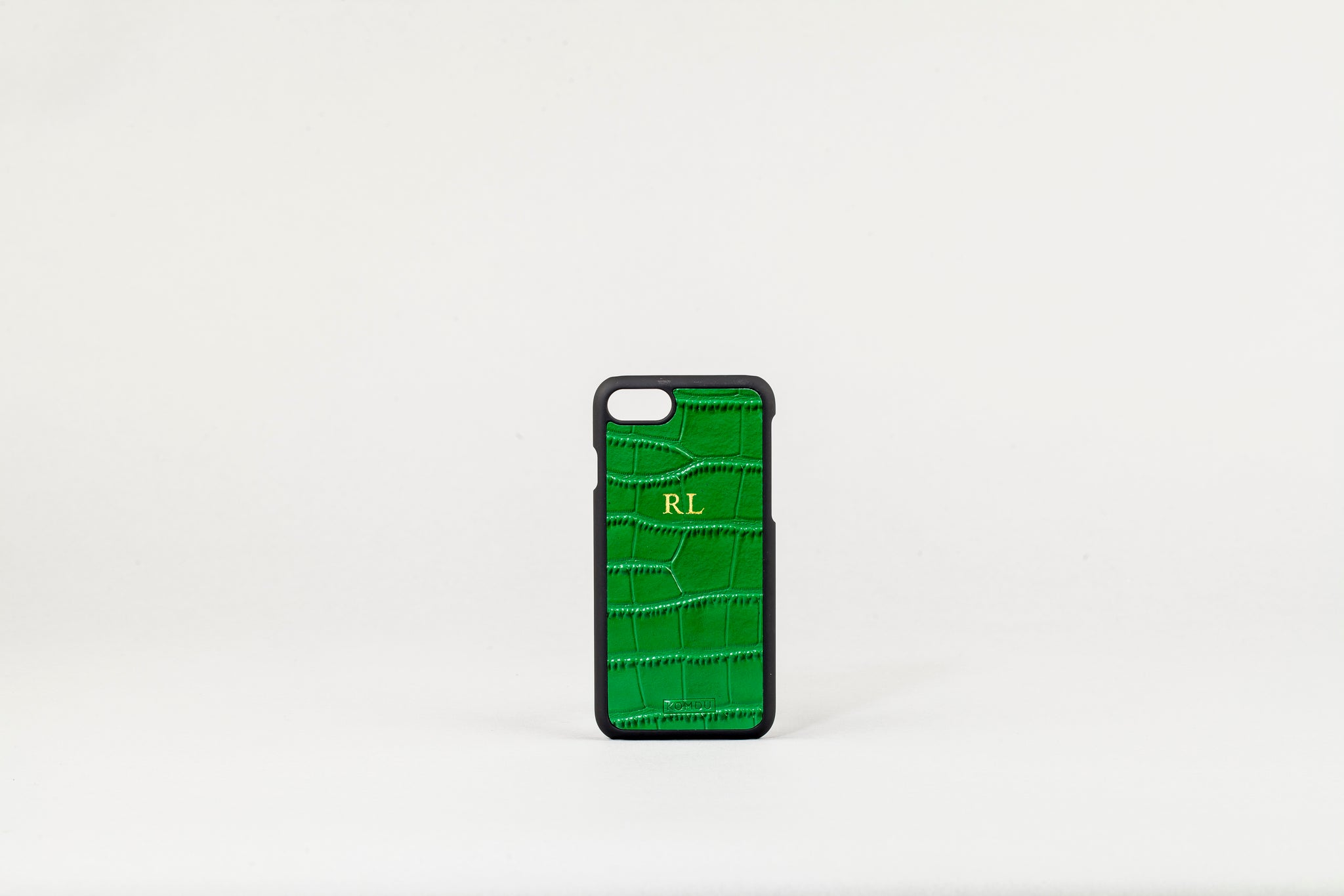 sports shoes 4df5e 8a577 Green iPhone 7/8 Croc Leather Case