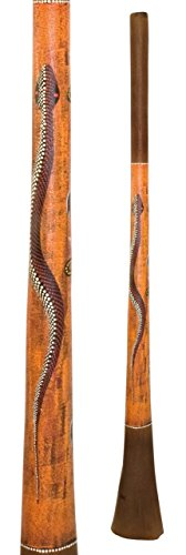 "Baked wood Didgeridoo Paint 59 inch F, 2"" mouth, 6.5"" big bell end"