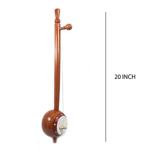 IMI 100% Pure Handmade Fine Crafted Indian Musical Instruments Wooden Playing Iktara (Tumbi) Made By Indian National Awarded Artisan Size: - H-8 x L-51 x W-10 (Cms) Home Decor, Office Décor