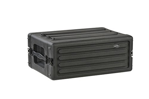 SKB 1SKB-R4S 4U Shallow Roto Rack with Steel Rails Front/Back, 10.5-Inch Deep Rail to Rail