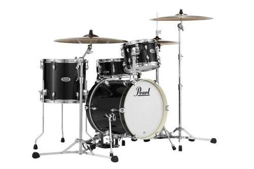 Pearl Midtown MDT764P/C701 4 Piece Drum Shell Pack, Black Gold Sparkle