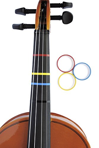 3 Mini Color Violin Fingering Tape for Fretboard Note Positions