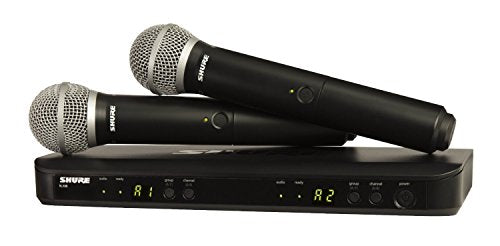 Shure BLX288/PG58-H9 Wireless Vocal Combo with PG58 Handheld Microphones, H9