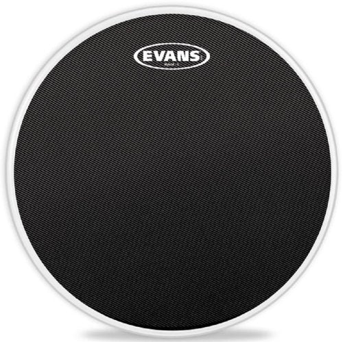 Evans Hybrid-S Black Marching Snare Drum Head, 13 Inch