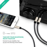 "UGREEN 3.5mm 1/8"" TRS to Dual 6.35mm 1/4"" TS Mono Stereo Y-Cable Splitter Cord for iPhone, iPod, Computer Sound Cards, CD Players, Multimedia Speakers and Home Stereo Systems"